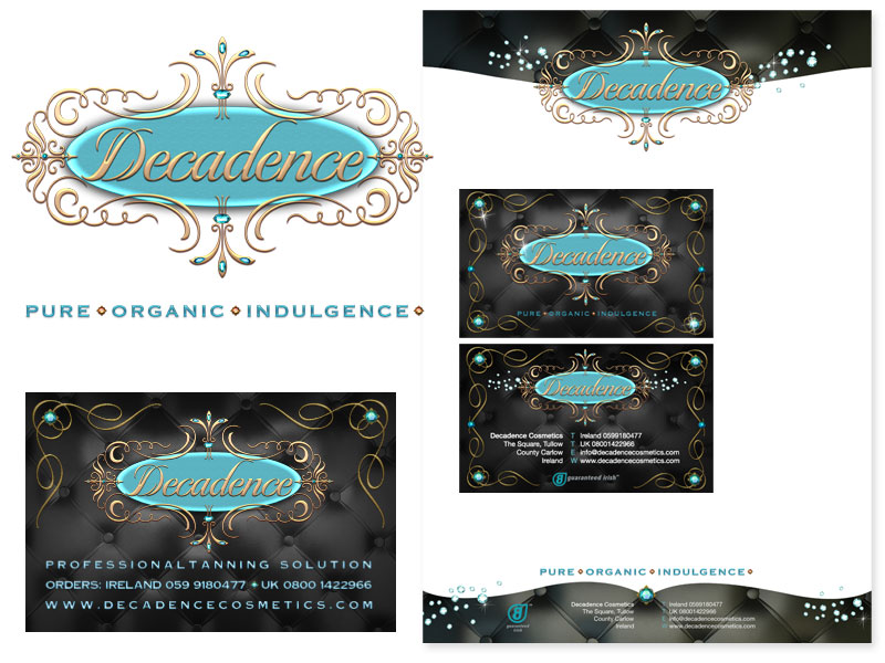 Decadence Cosmetics Logo Design