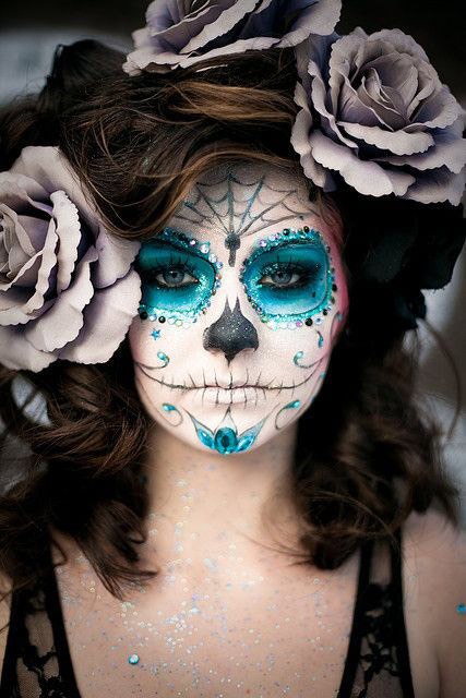 day of the dead makeup for halloween via pinterest   DianePenelope.com