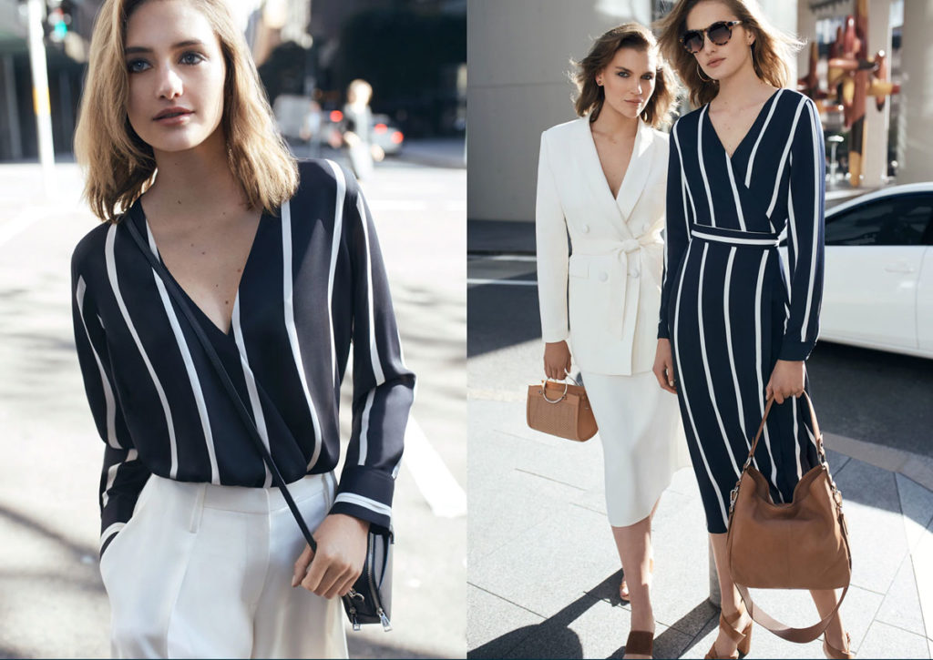 In a classic maritime colour palette, timeless stripes have been anchored as the season's must-have print for urban to work settings.