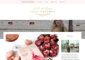 The Paris Dreamer by Katrina Lawrence - new site design by Diane Penelope