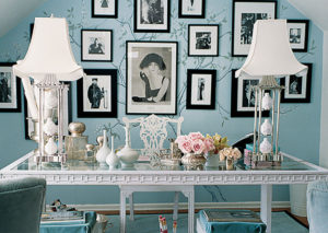 Interior designer Mary McDonald's L.A. office is a micro-model for giving a simple space serious retro-Hollywood glamour