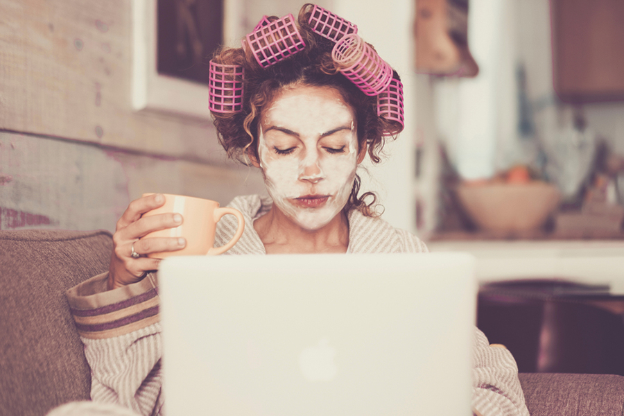 beauty in the time of a pandemic at home isolation facial